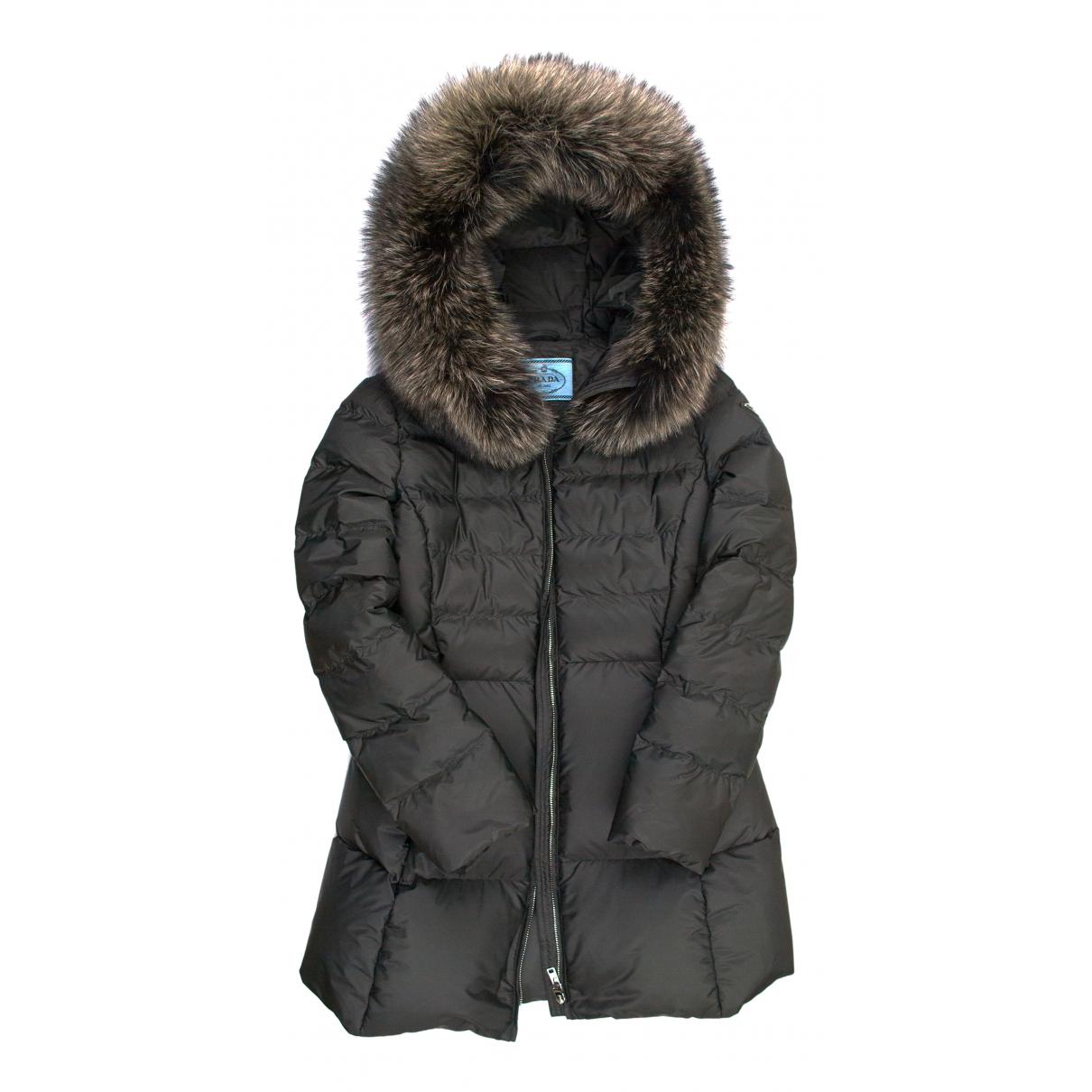 Prada N Khaki Fur coat for Women 42 IT