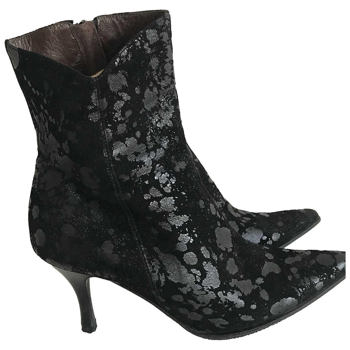 - Boots   pour femme en toile - noir