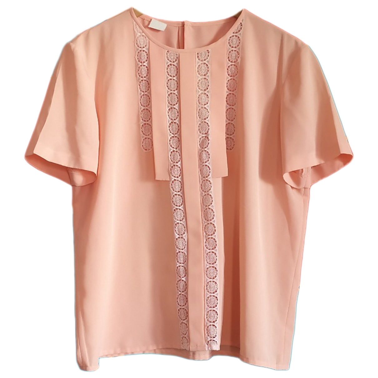 Non Signé / Unsigned Oversize Pink  top for Women 44 FR