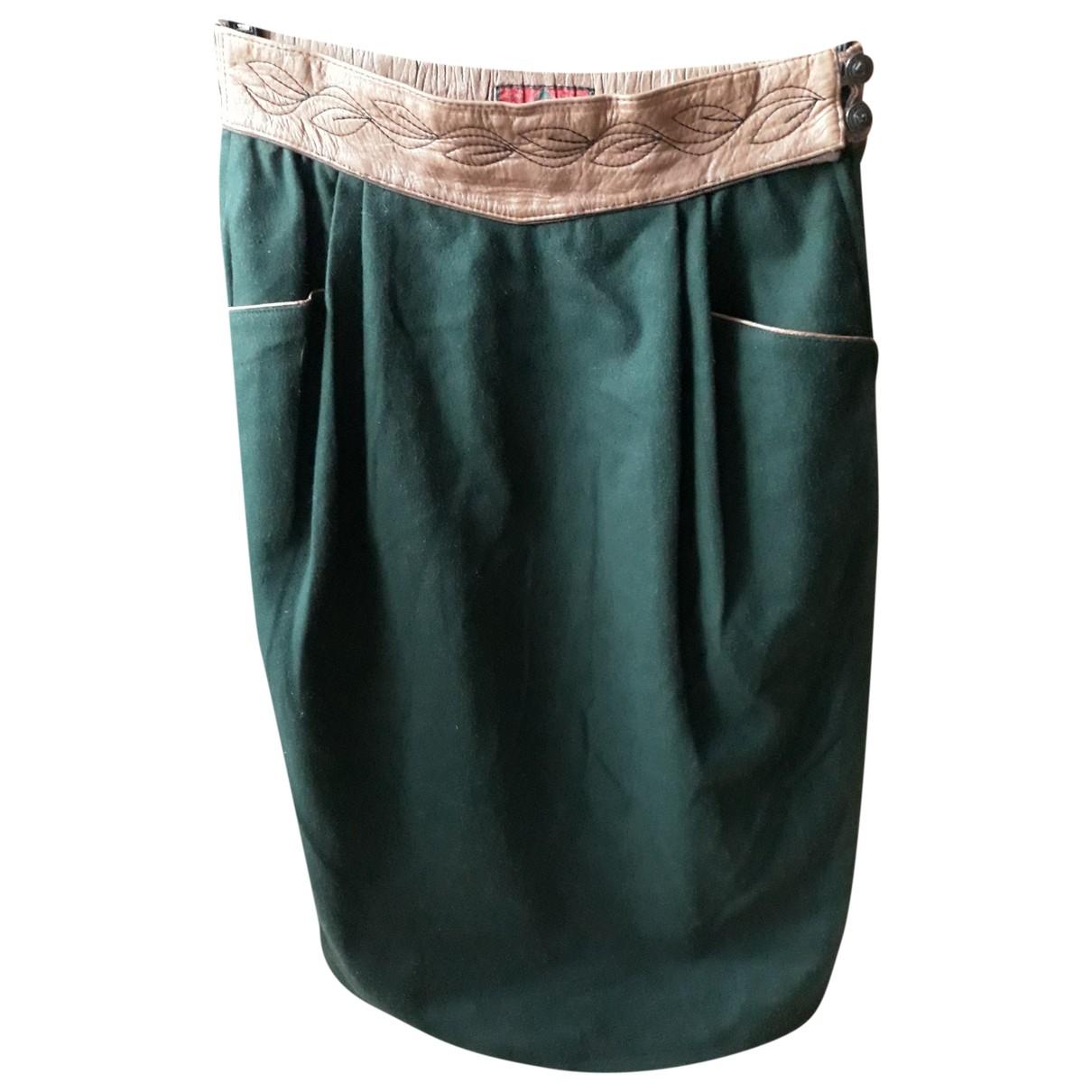 - Jupe   pour femme en laine - vert