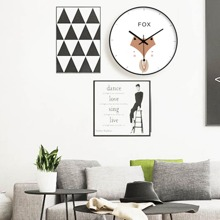 1pc Cartoon Animal Wall Clock
