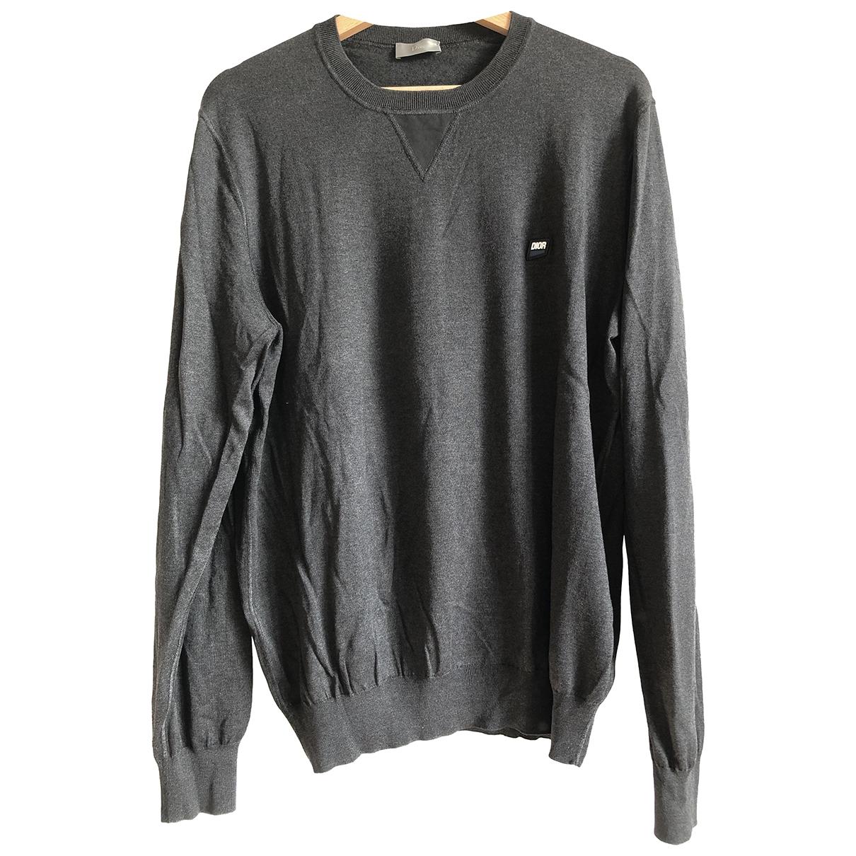 Dior Homme \N Pullover.Westen.Sweatshirts  in  Grau Seide