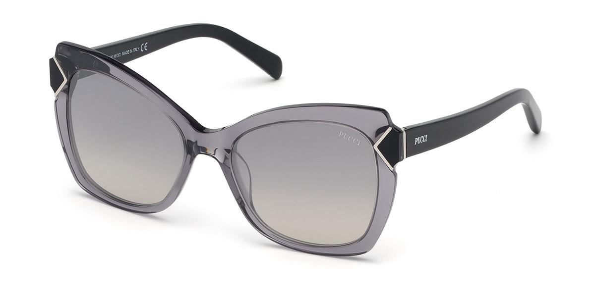 Emilio Pucci EP0090 20C Women's Sunglasses Grey Size 55