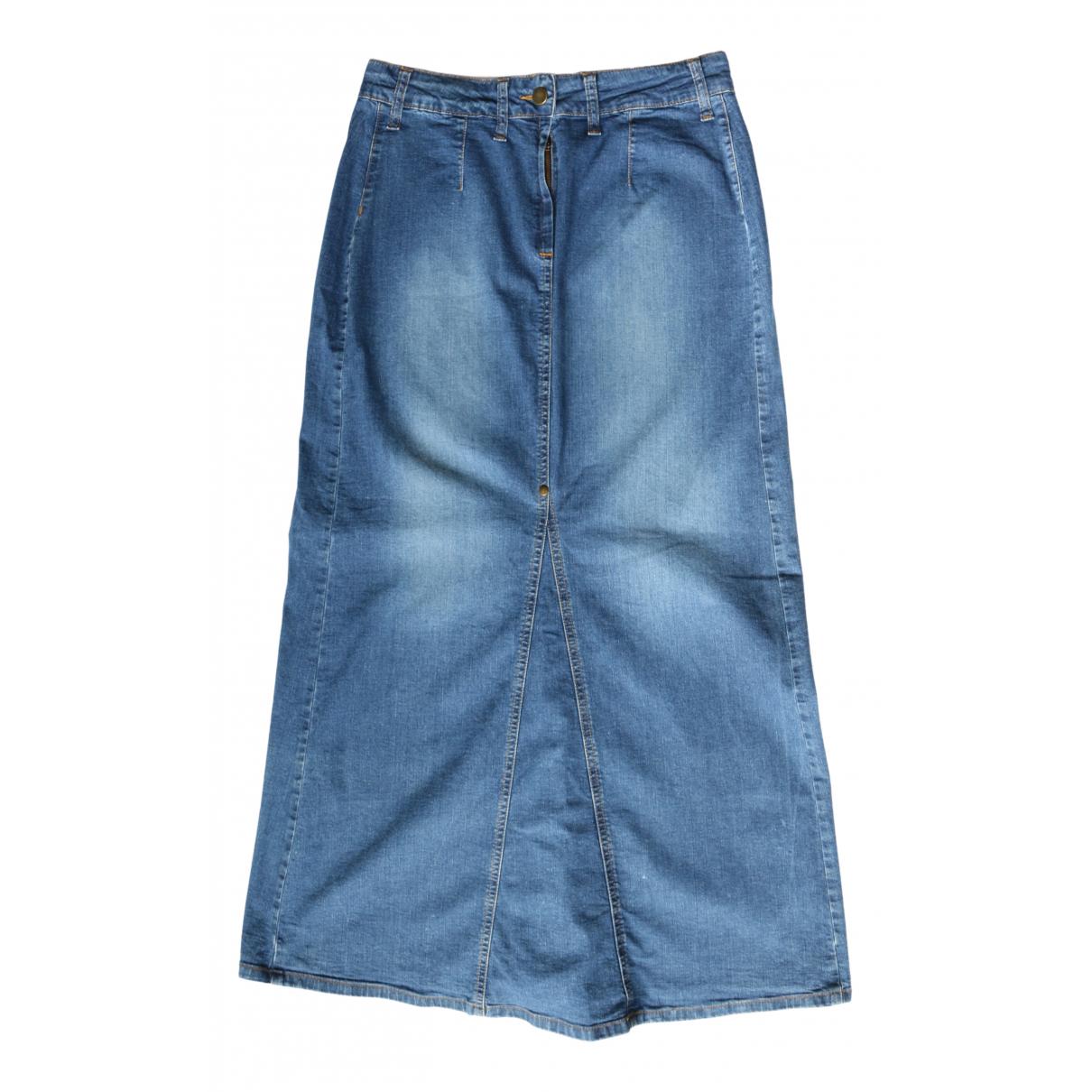 - Jupe   pour femme en denim - bleu