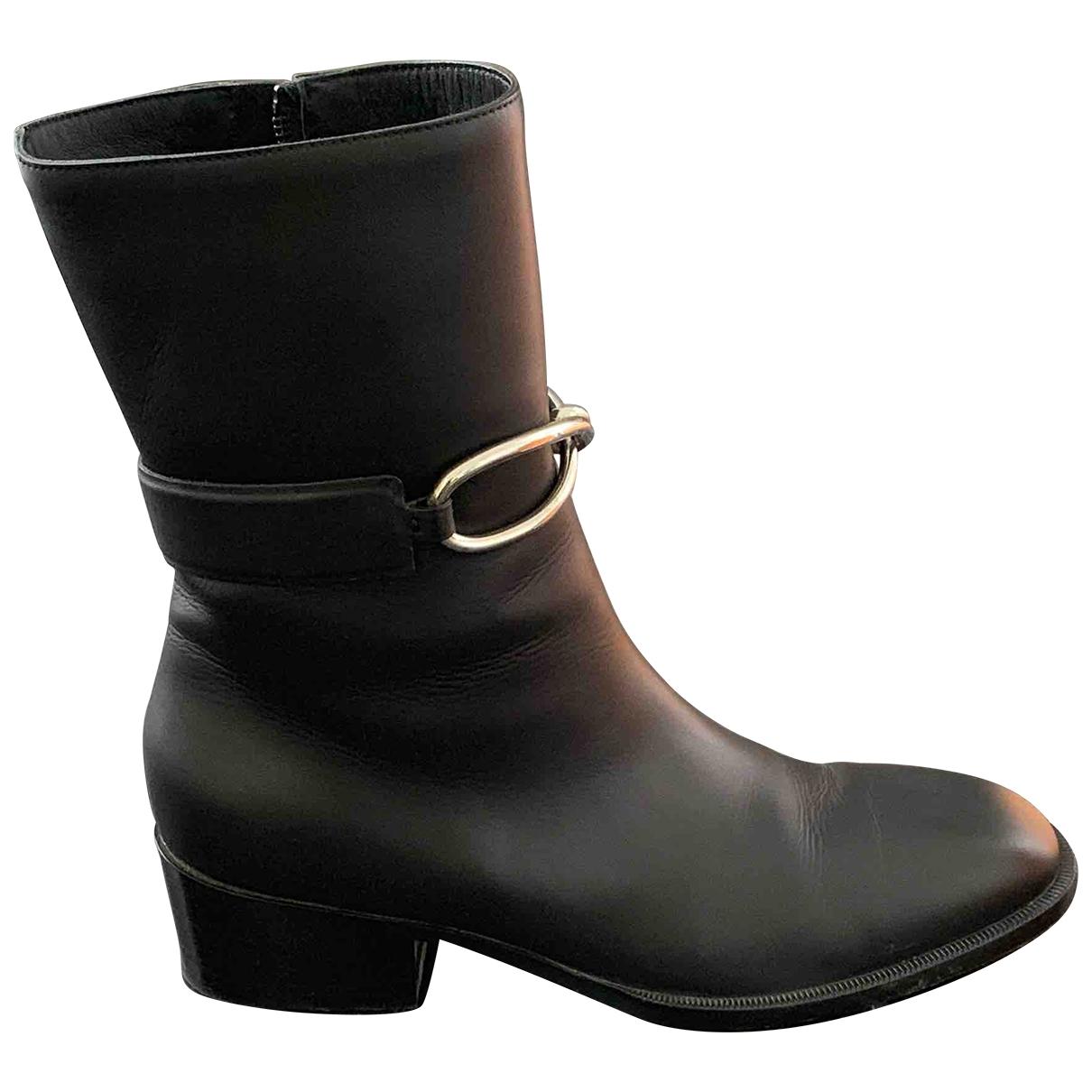 Balenciaga \N Stiefel in  Schwarz Leder