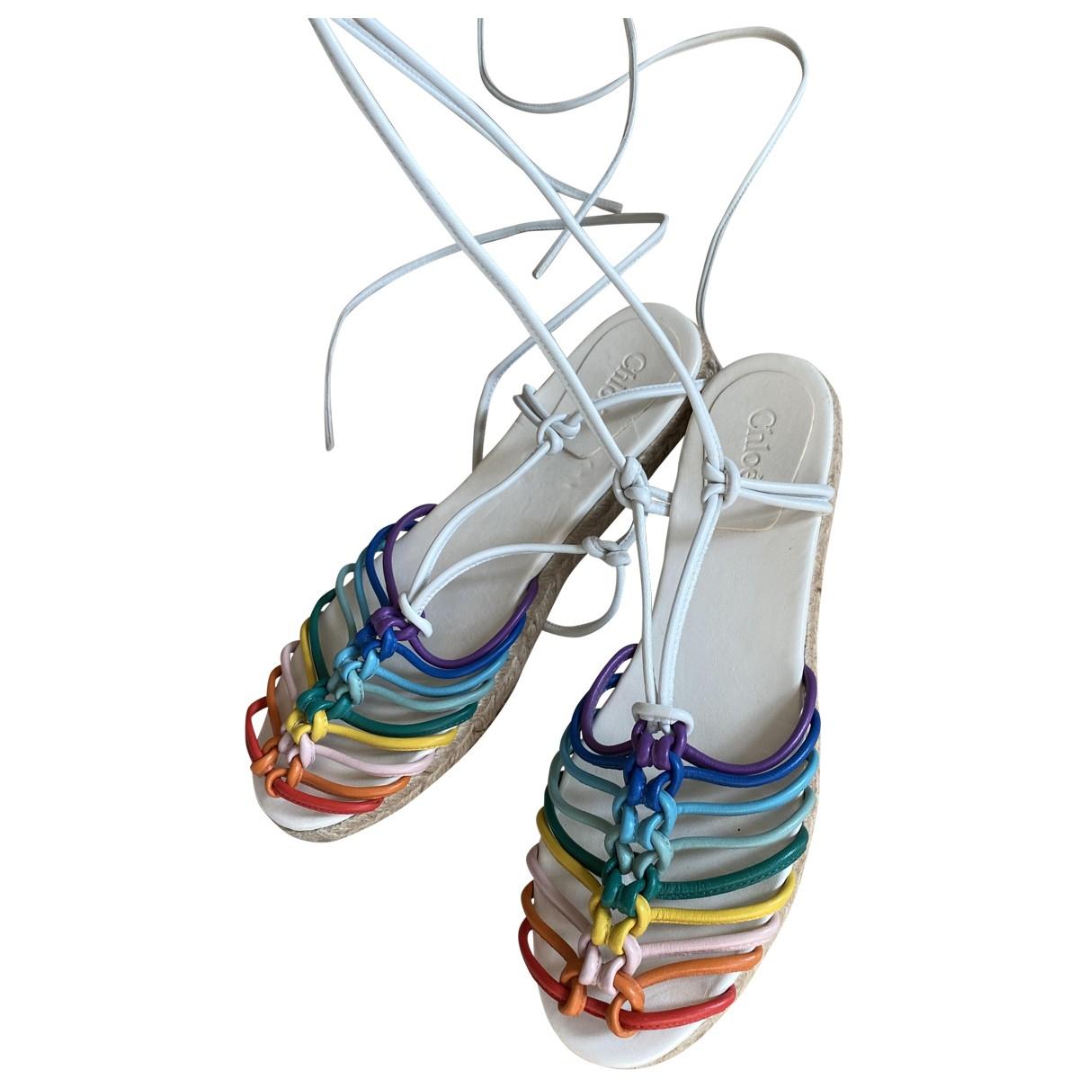 Chloe - Espadrilles   pour femme en cuir - multicolore