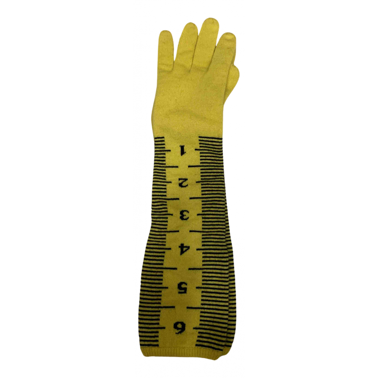Moschino N Yellow Cashmere Gloves for Women S International