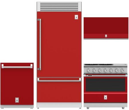 4-Piece Kitchen Appliances Package with KRPR36RD 36