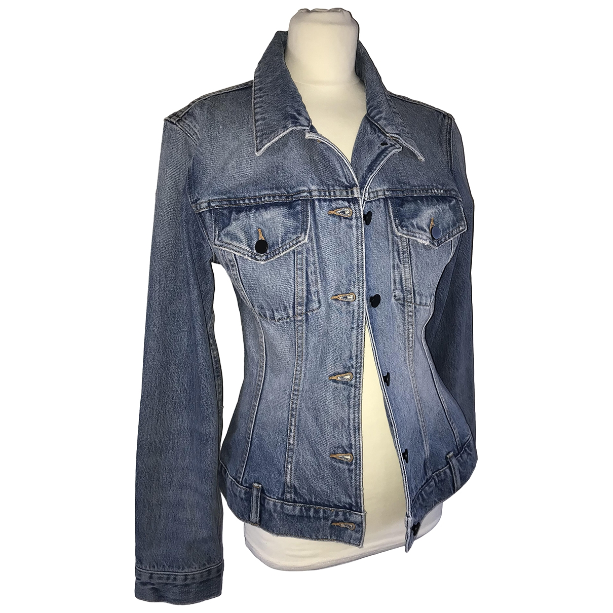 T By Alexander Wang \N Blue Denim - Jeans jacket for Women 10 US