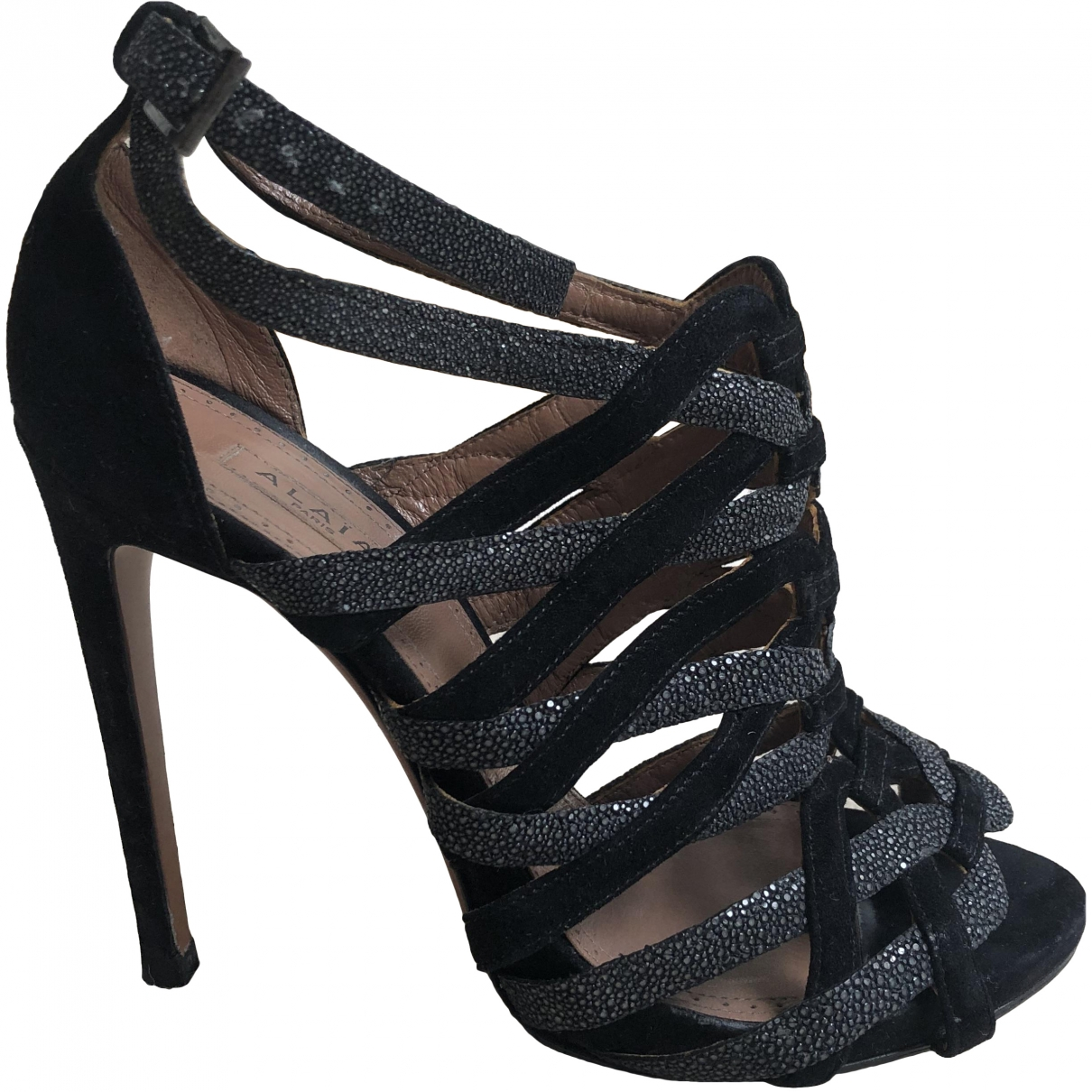 Alaïa \N Black Stingray Sandals for Women 37 EU