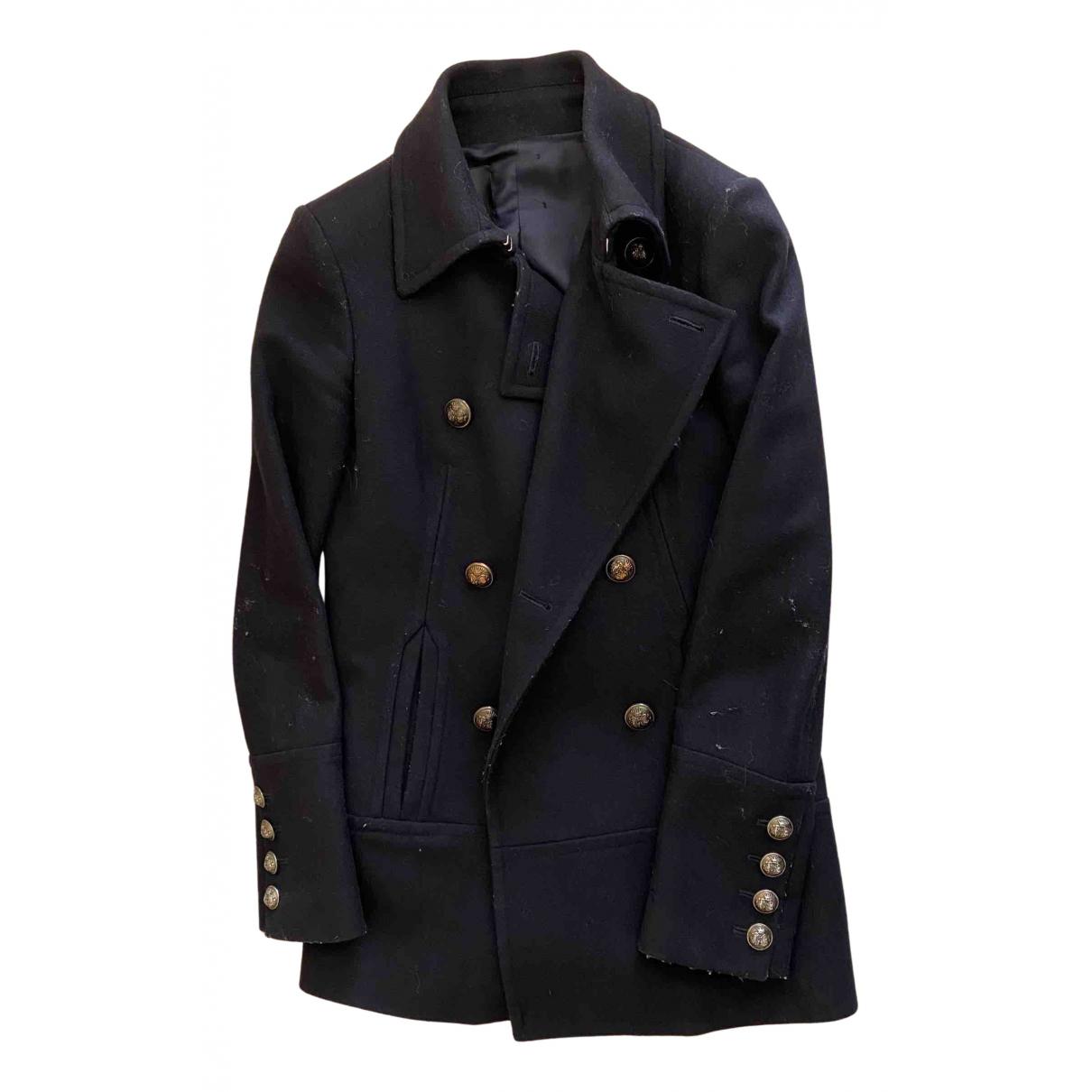 Pinko N Blue Wool jacket for Women 40 IT