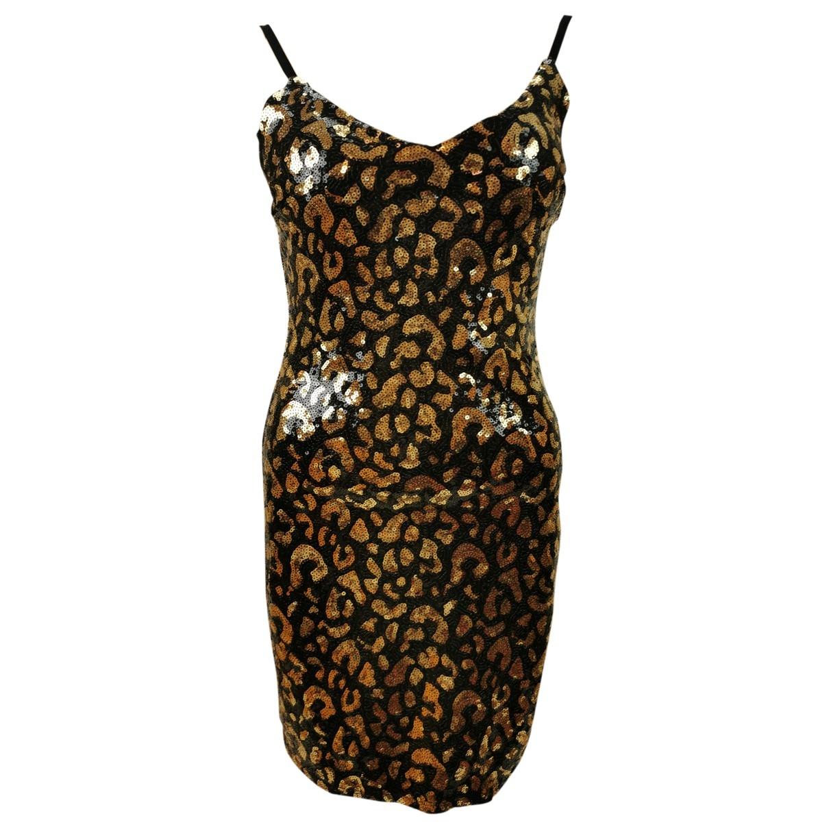 Guess \N Kleid in  Braun Mit Pailletten