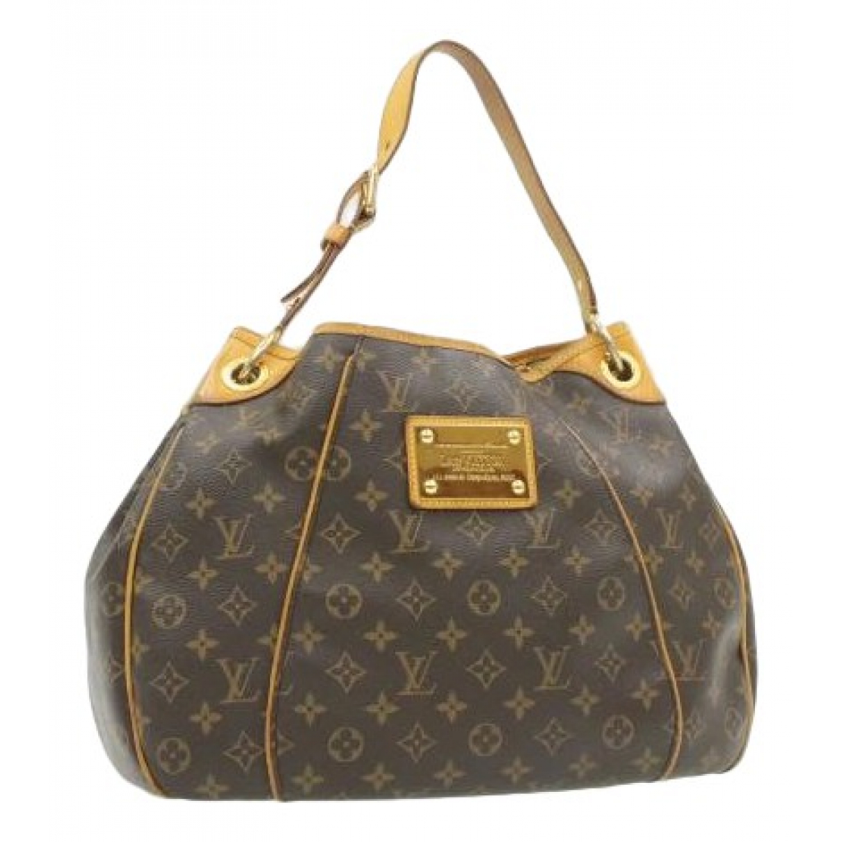 Louis Vuitton Galliera Handtasche in  Braun Leinen