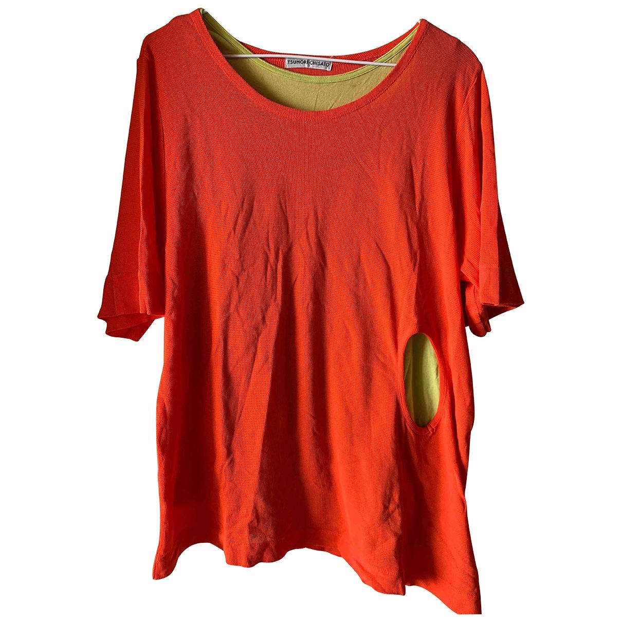 Tsumori Chisato - Top   pour femme en coton - orange