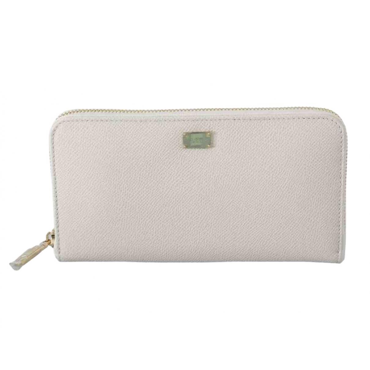 Dolce & Gabbana \N White Leather wallet for Women \N