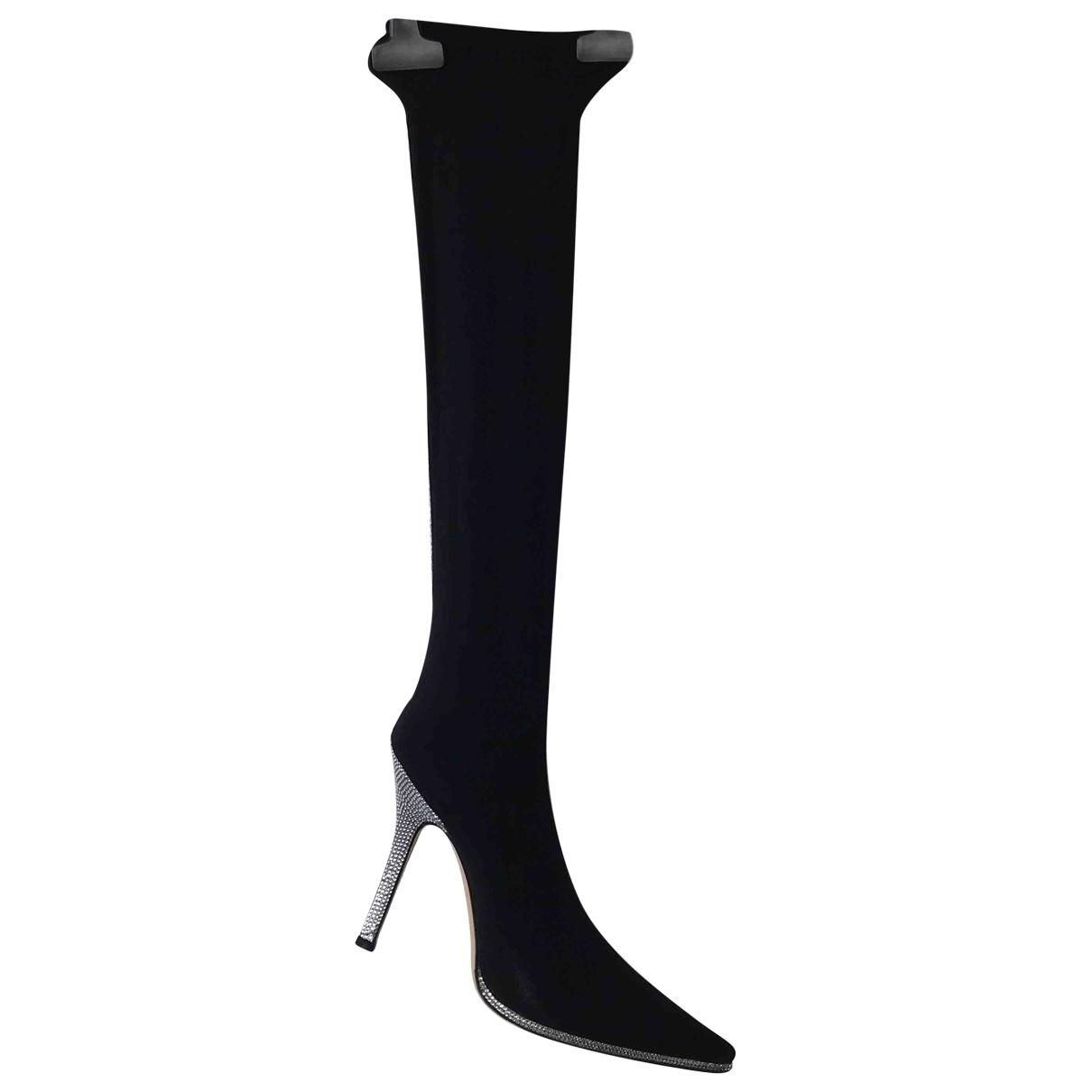 Rene Caovilla \N Black Cloth Boots for Women 39 EU