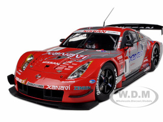 Xanavi Nismo Nissan Z 2004 JGTC Team & Drivers Champion Special Edition (Satoshi Motoyama) 1 With Driver Figure 1/18 Diecast Model Car by Autoart