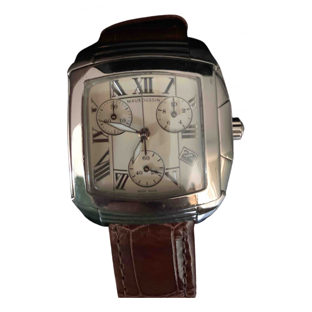 Mauboussin \N Uhr in  Braun Stahl
