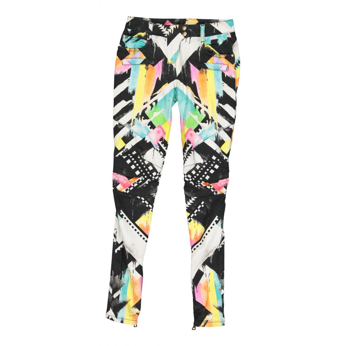 Balmain N Multicolour Cotton Trousers for Women 36 FR