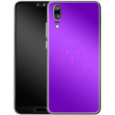 Huawei P20 Silikon Handyhuelle - Cute Ghost von caseable Designs