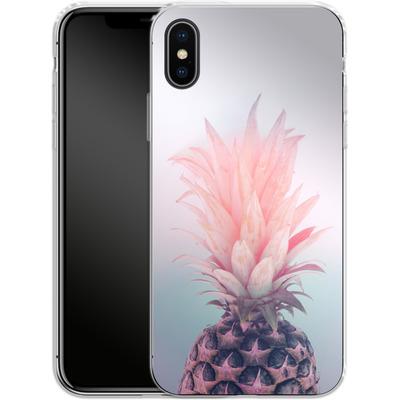 Apple iPhone X Silikon Handyhuelle - Pastel Pineapple von Emanuela Carratoni