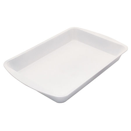 Range Kleen Ceramabake 9x13 Roaster Pan Non-Stick Loaf Pan, One Size , White
