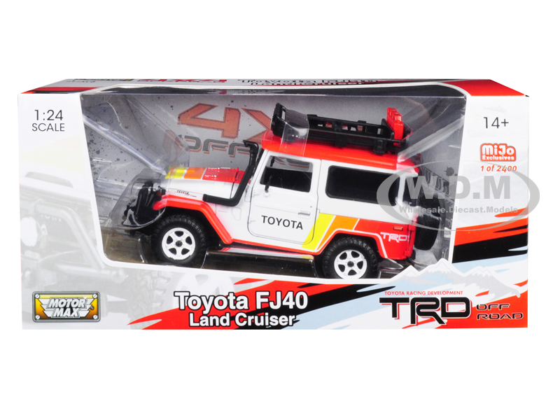 Toyota FJ 40 Land Cruiser TRD White Limited Edition to 2400 pieces Worldwide 1/24 Diecast Model Car by Motormax