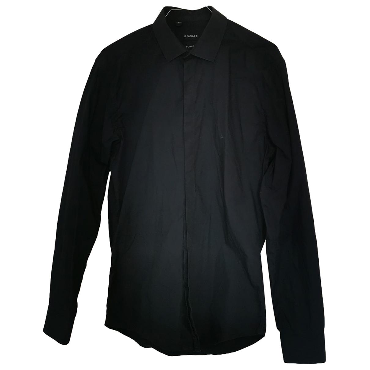 Rochas N Navy Cotton Shirts for Men 38 EU (tour de cou / collar)