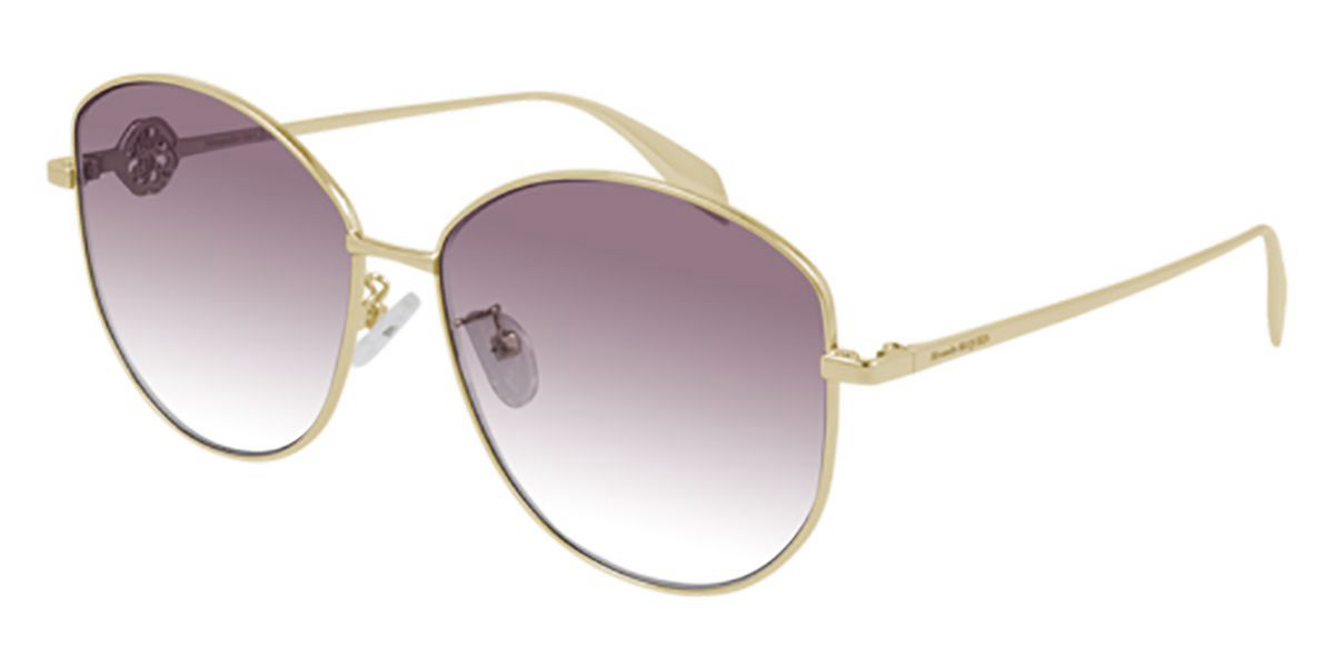 Alexander McQueen AM0288S 003 Women's Sunglasses Gold Size 62 - Free RX Lenses