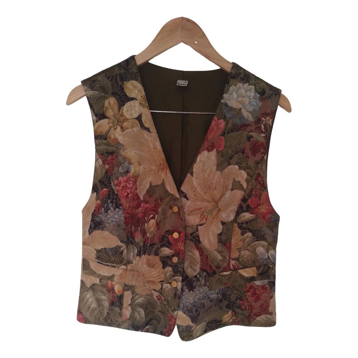 Non Signé / Unsigned Hippie Chic Khaki Cotton  top for Women 38 IT