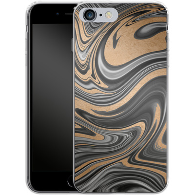 Apple iPhone 6s Plus Silikon Handyhuelle - Gold Swirl von #basic