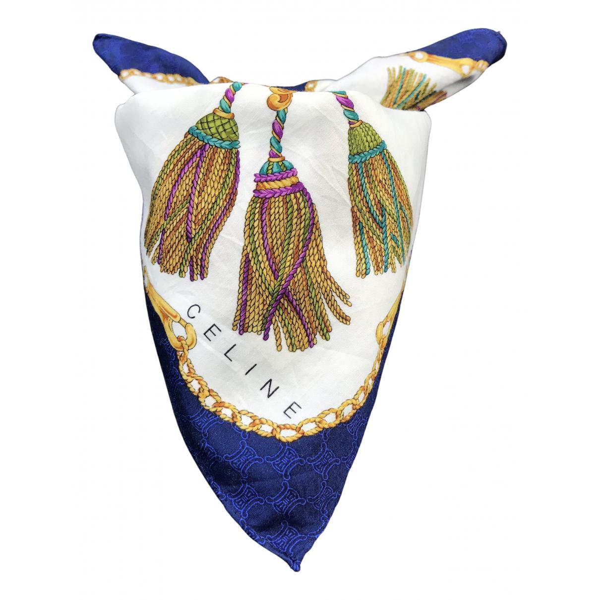 Celine \N Blue Cotton Silk handkerchief for Women \N