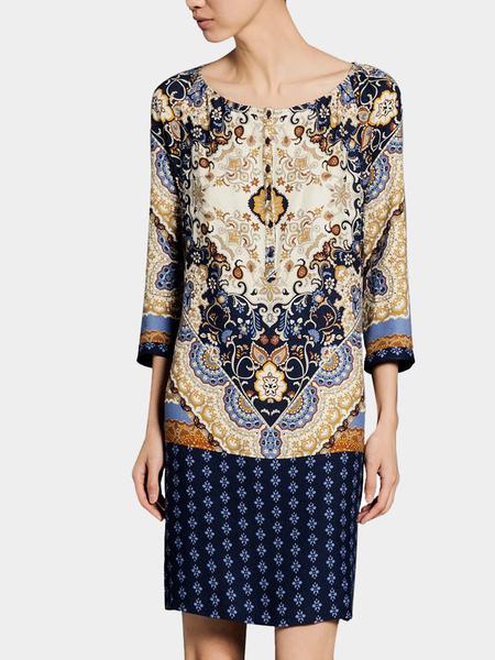 Yoins Vintage Raglan Sleeve Dress