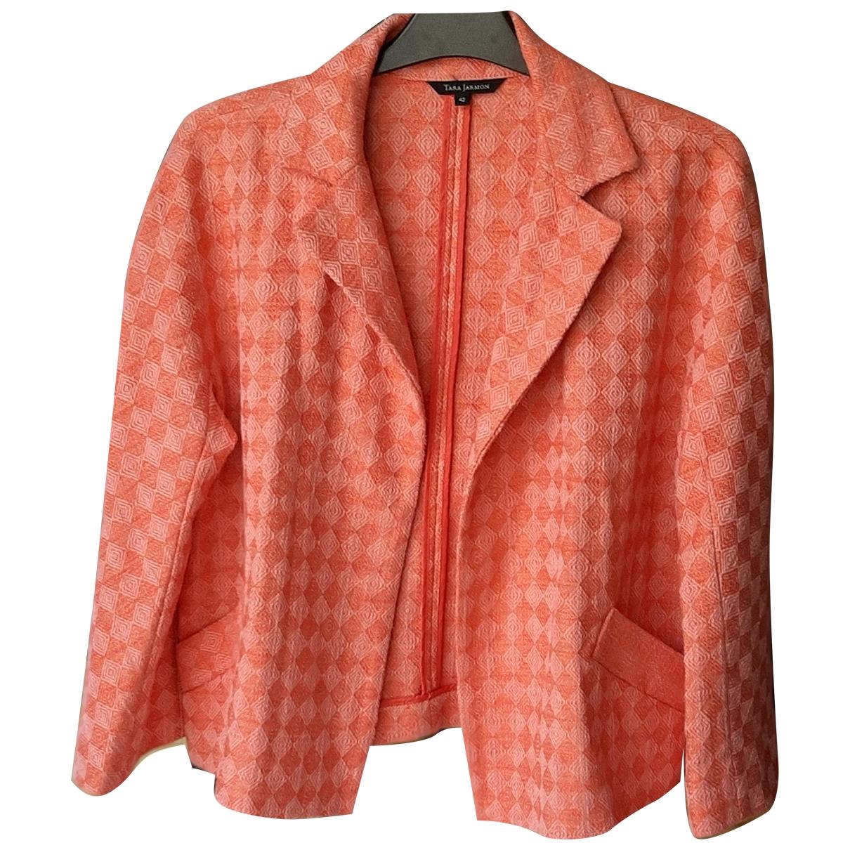 Tara Jarmon \N Orange Cotton jacket for Women 42 FR