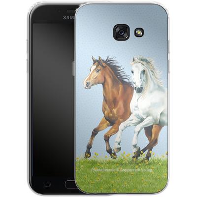 Samsung Galaxy A5 (2017) Silikon Handyhuelle - Pferdefreunde Ausritt von Pferdefreunde