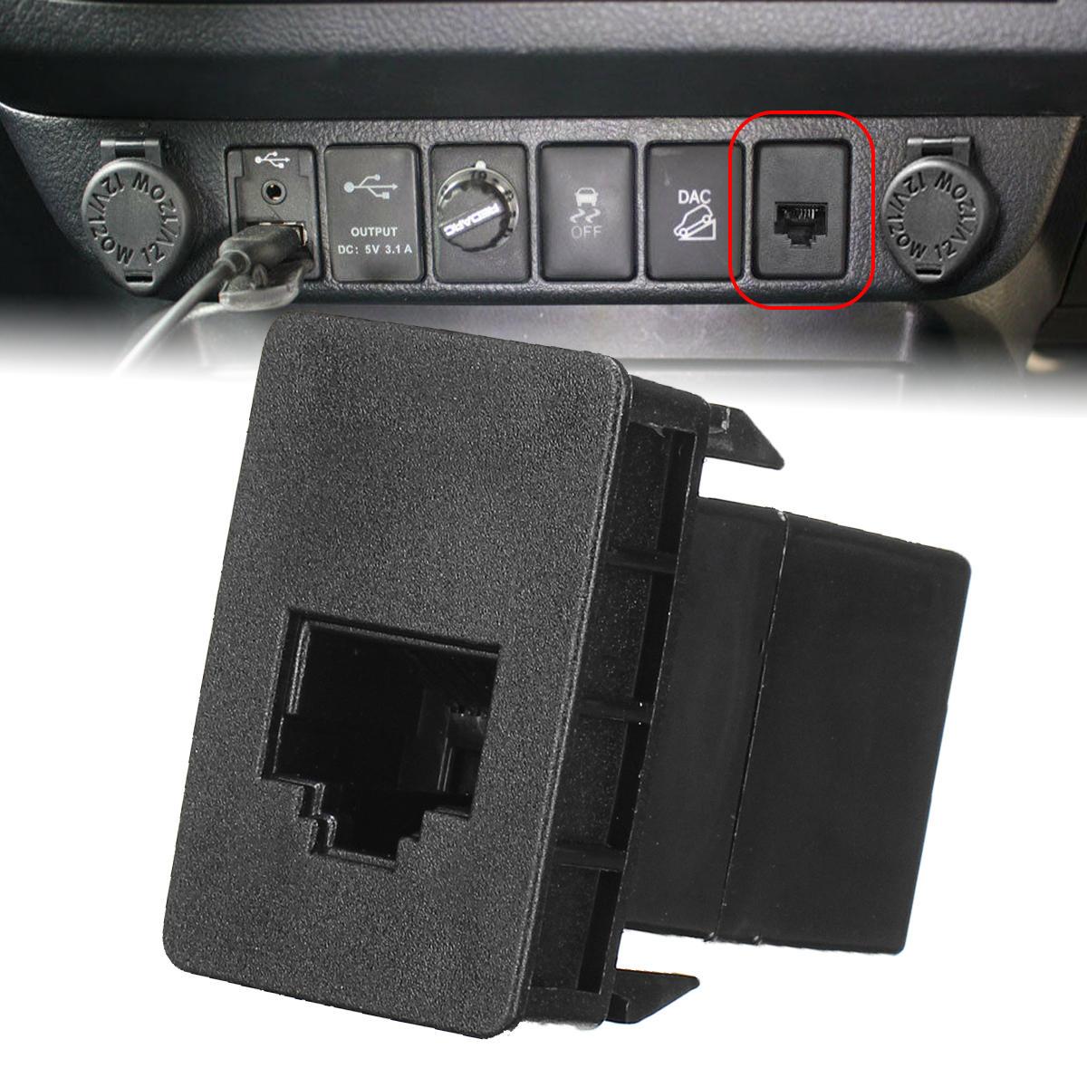 Car CB UHF Blank Socket RJ45 Radio Switch Panel Dash For Toyota Hilux Landcruiser RAV4 Prado