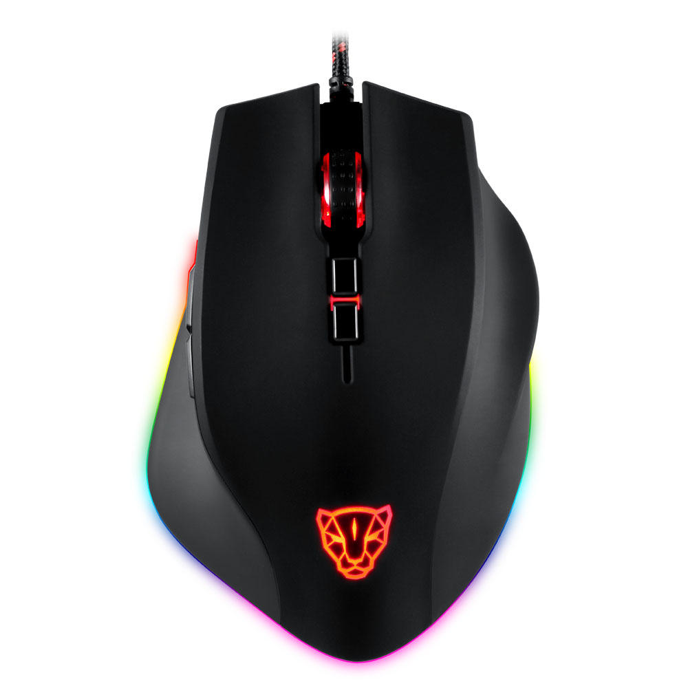 Motospeed V80 USB Wired 5000DPI RGB Backlit Optical Gaming Mouse Support Macro Setting