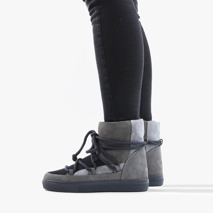 Inuikii Sneaker Patchwork 70102-75 Dark Grey