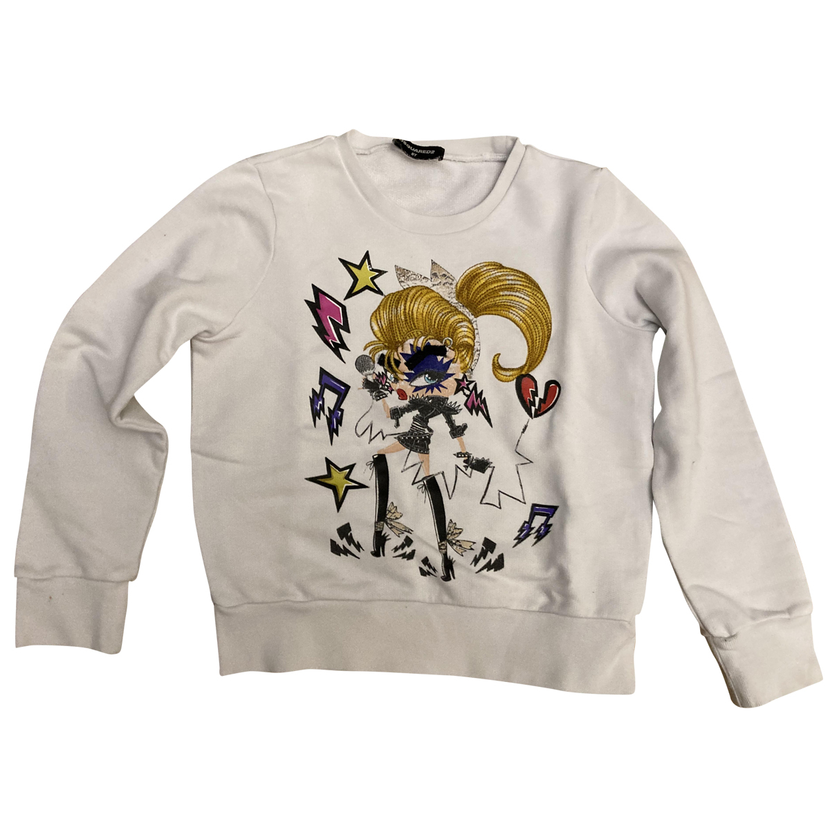 Dsquared2 \N White Cotton Knitwear for Kids 8 years - up to 128cm FR