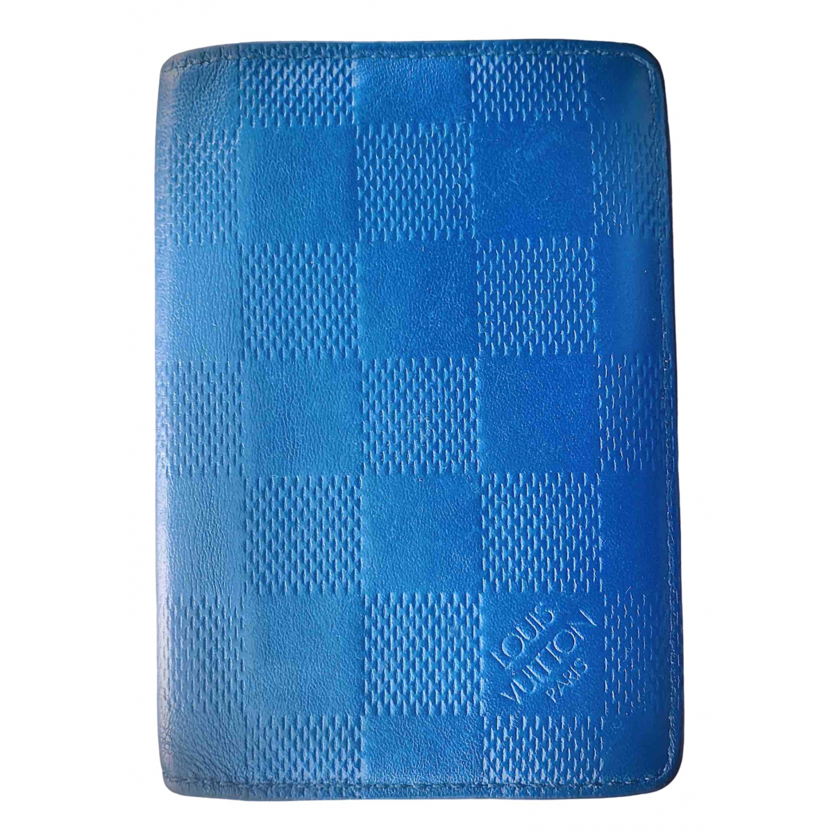 Louis Vuitton Pocket Organizer Blue Leather Small bag, wallet & cases for Men N