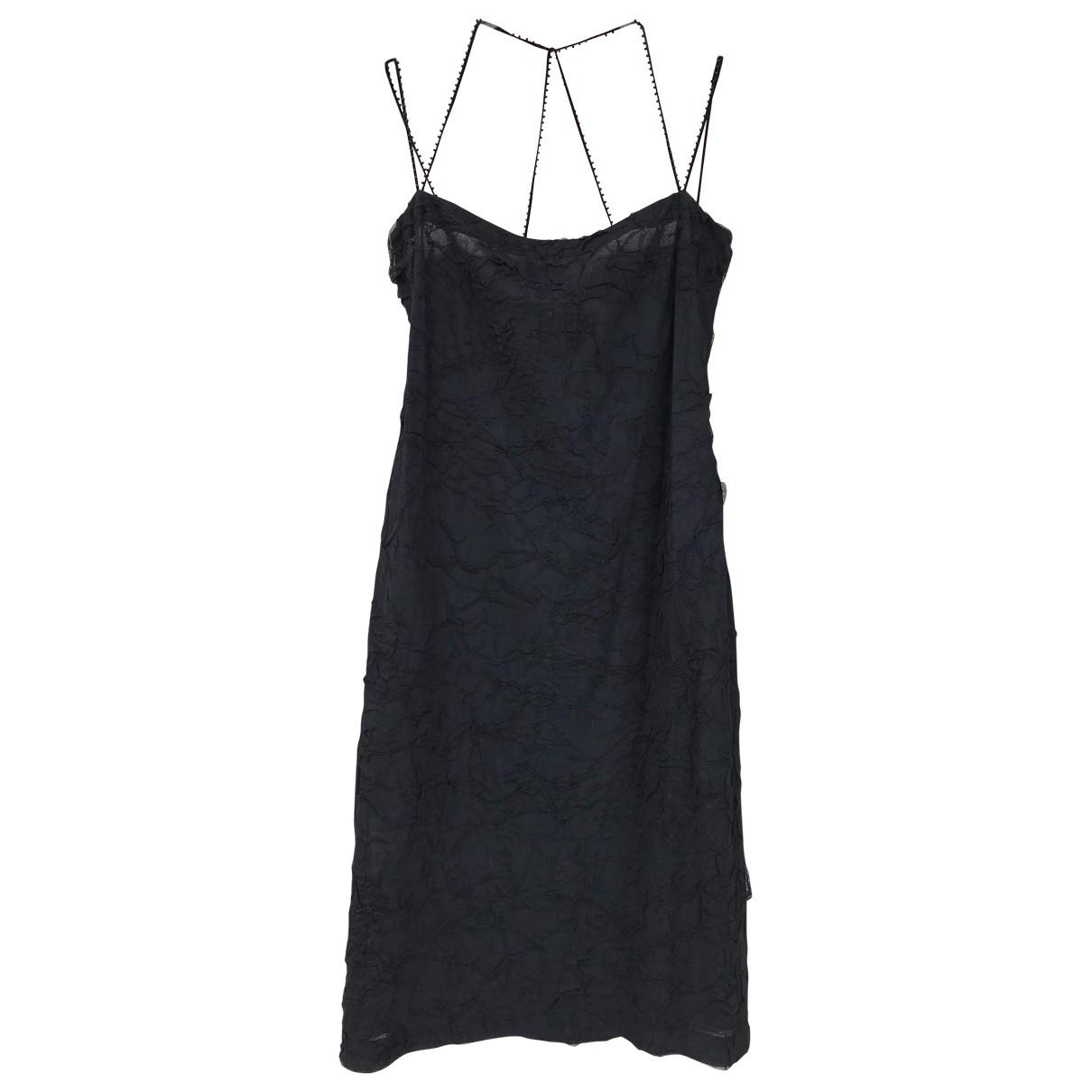 Romeo Gigli \N Kleid in  Schwarz Synthetik