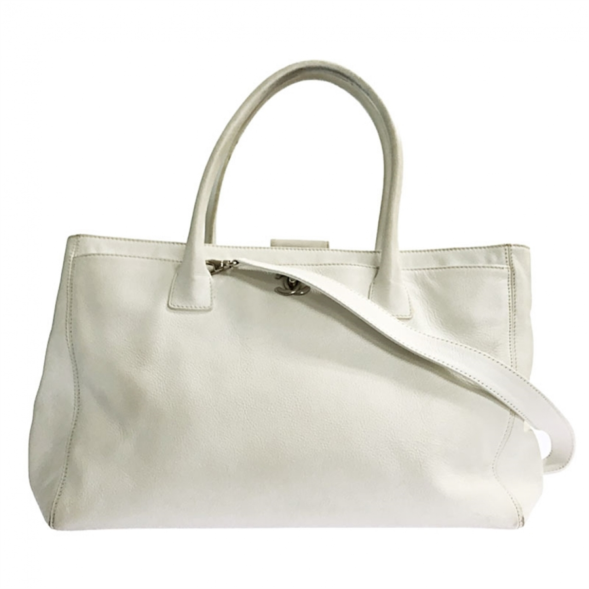 Chanel Executive White Leather handbag for Women \N