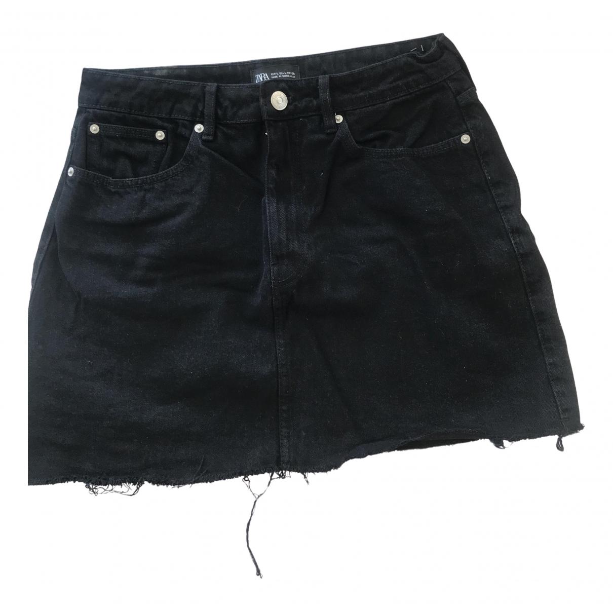 Zara \N Rocke in  Schwarz Denim - Jeans