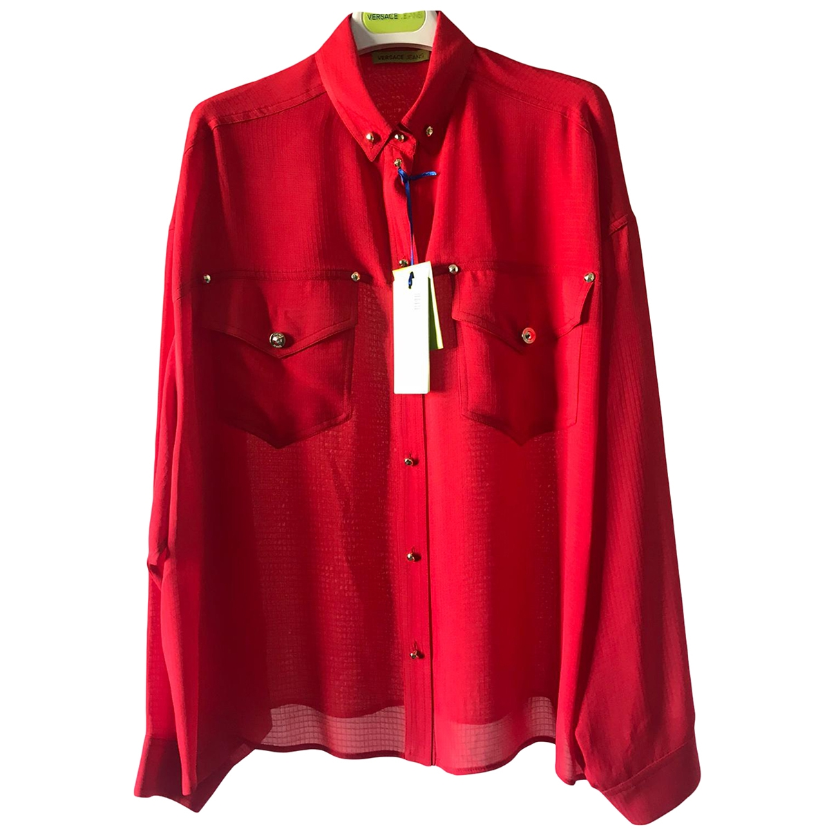 Versace Jeans \N Jacke in  Rot Viskose