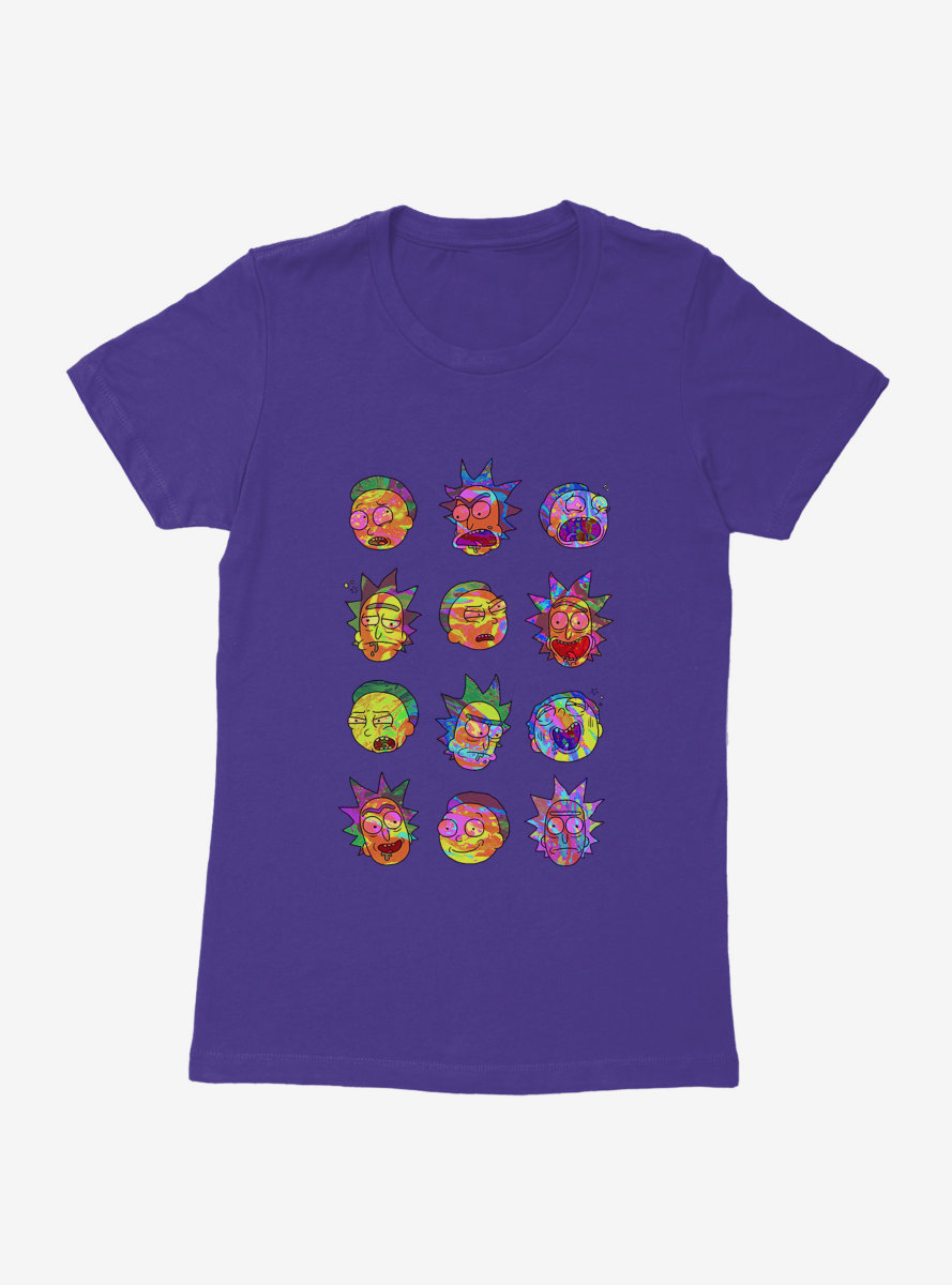 Rick And Morty Psychedlic Expression Womens T-Shirt