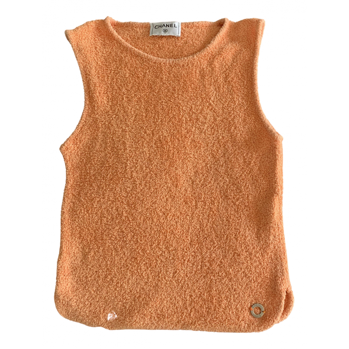 Chanel \N Top in  Orange Baumwolle
