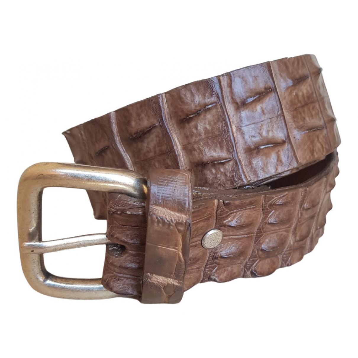 Michael Lewis \N Brown Crocodile belt for Women S International