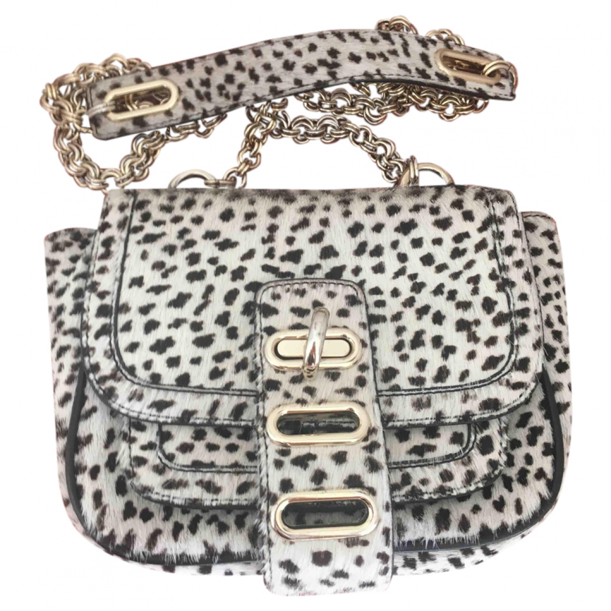 Tila March \N White Pony-style calfskin handbag for Women \N