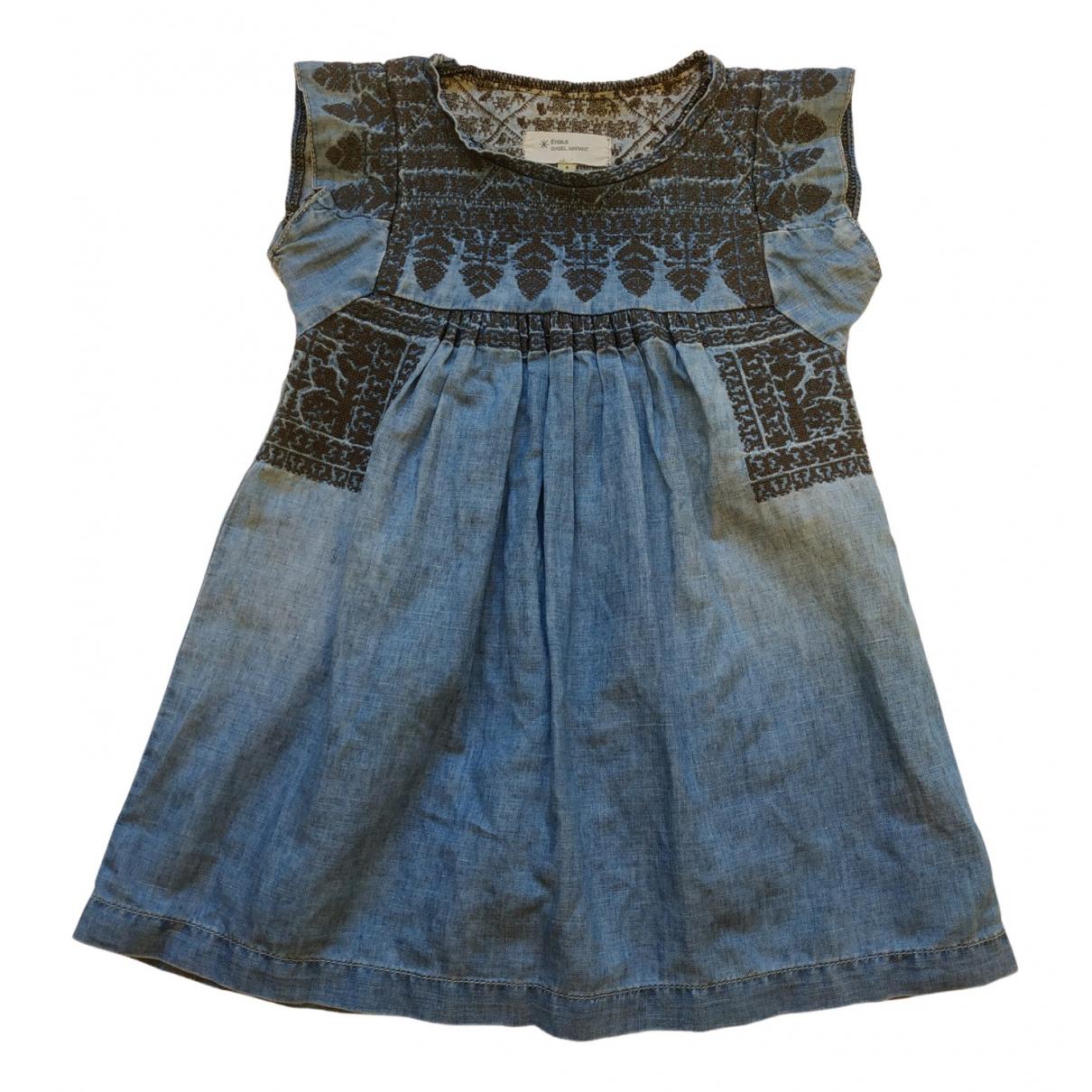 Isabel Marant Etoile - Robe    pour enfant en denim - bleu