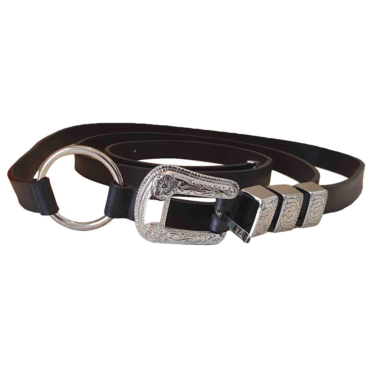 Mcq \N Black Leather belt for Men XL international